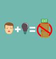 no ideas equal no exit vector image vector image