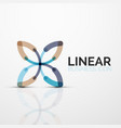 outline minimal abstract geometric linear business vector image