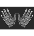 palm hand drawn zentangle vector image vector image