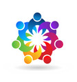people team unity together logo vector image vector image