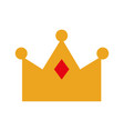 queen crown isolated icon vector image vector image