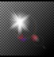 realistic lens flare with highlights light effect vector image