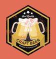 Retro Craft Beer Sign vector image