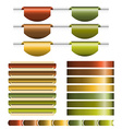 Ribbons Big Set vector image vector image