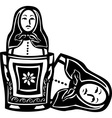 Russian Nested Doll vector image vector image
