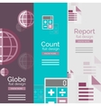 Set of flat design universal business concepts vector image