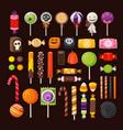 set of halloween candies vector image vector image
