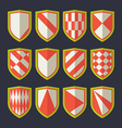 Set of shields red and green vector image vector image