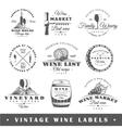 set vintage wine labels vector image