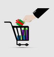 shopping cart ecommerce icons vector image
