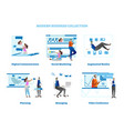 simple business concept scenes with office people vector image vector image