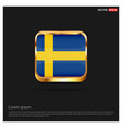 sweden independence day design card vector image