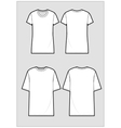Technical sketch of white t-shirt vector image vector image