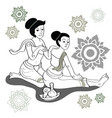 thai massages style in colorful with hand drawn vector image vector image
