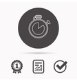 Timer icon Stopwatch sign vector image