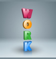 work icon on the grey background vector image vector image