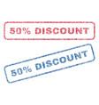 50 percent discount textile stamps vector image