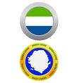 button as a symbol SIERRA LEONE vector image