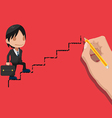 Man Walk Up Stair Pencil Line vector image