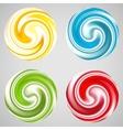 Set of milk yogurt cream curl or lollipop vector image