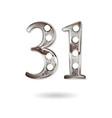 31 years anniversary celebration design vector image