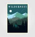 adventure mountain camp poster wilderness design vector image vector image