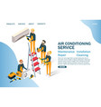air conditioning service website landing vector image
