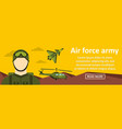 air force army banner horizontal concept vector image vector image