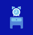 alarm clock red wake-up time isolated in flat vector image vector image