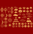 asia elements chinese festive decorative gold vector image vector image