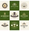 Badges and logos set Beer festival Oktoberfest vector image