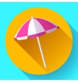 Beach umbrella top view icon Flat design vector image vector image