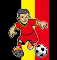belgium soccer player with flag background vector image vector image