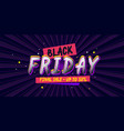 black friday poster for sale in store bright vector image