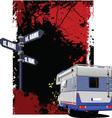 Caravan Background vector image vector image