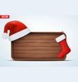 christmas greeting board vector image