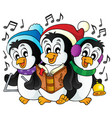 christmas penguins theme image 1 vector image vector image