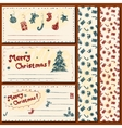 Christmas postcards set vector image