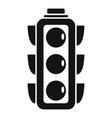 city traffic lights icon simple style vector image