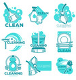 cleaning service and company for home hygiene vector image