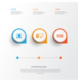 device icons set collection of web personal vector image vector image