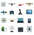 Drones Icons Set vector image vector image
