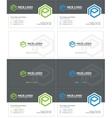e hexagon business card 2 vector image vector image