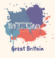 english emotive motive with historical attractions vector image vector image