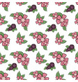 floral seamless pattern spring flowers vector image