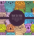 frame for text with an owl vector image vector image