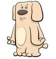 funny beige dog pet cartoon character vector image vector image
