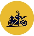 Girl on motorcycle vector image vector image