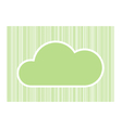 Green cloud for your text with green line abstract vector image