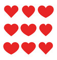 heart icons collection of different red hearts vector image